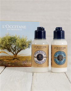 gifts: LOccitane Shea Butter Travel Set!