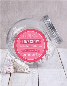gifts: Our Love Story Candy Jar!
