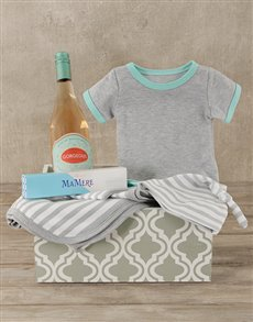 gifts: Mint & Grey Mom and Baby Gift Crate!