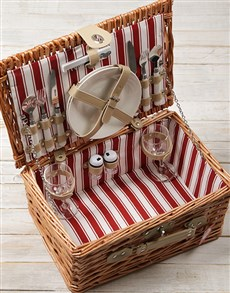 gifts: Two Person Natural Willow Picnic Basket!