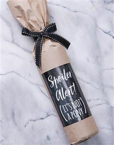 gifts: Spoiler Alert Wine in Craft Paper!