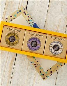 gifts: L'Occitane Soap Trio!