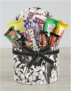 gifts: Black and White Floral Nestle Hat Box!