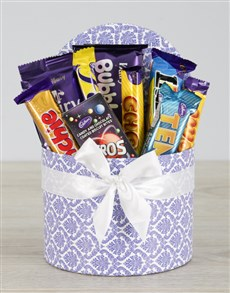 gifts: Blue Leaf Cadbury Hat Box!