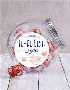 gifts: Valentines To Do List Candy Jar!