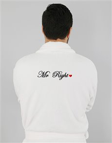 gifts: Mr Right White Fleece Gown!
