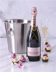 gifts: Moet Rose Ice Bucket!