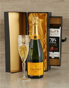 gifts: Veuve Cliquot and Lindt Box!