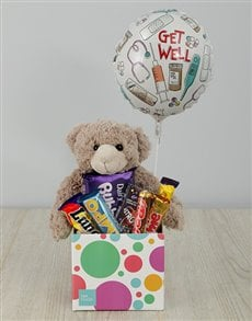 gifts: Get Well Teddy and Choc Box!