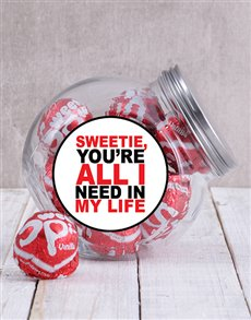 gifts: My Sweetie Candy Jar!