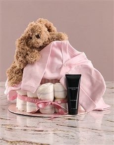 gifts: Some Bunny Loves Mommy and I Pink Nappy Cake!