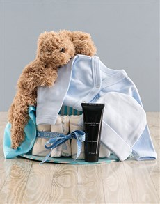 gifts: Some Bunny Loves Mommy and I Blue Nappy Cake!