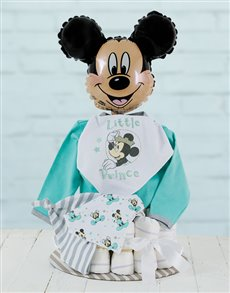 gifts: All Dressed Up with Mickey Mouse Nappy Cake!