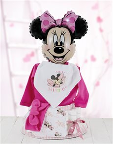 gifts: All Dressed Up with Minnie Mouse Nappy Cake!