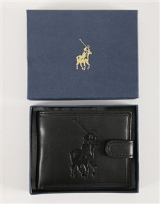 gifts: Black Polo Colorado Tab Wallet!