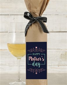 gifts: Mothers Day Wine in Craft Paper!