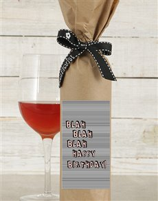 gifts: Blah Blah Birthday Wine in Craft Paper!