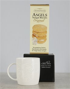 gifts: Carrol Boyes Hidden Beauty Mug and Angel Biscuits!