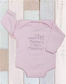 gifts:  Happy First Mothers Day Onesie!
