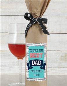 gifts: Best Dad Wine in Craft Paper!