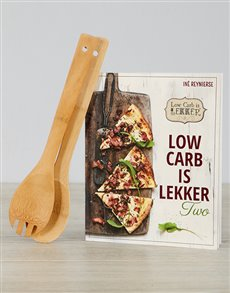 gifts: Low Carb is Lekker Two and Salad Servers!