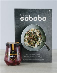 gifts: Sababa Cookbook and Black Olives!