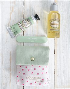 gifts: LOccitane Almond Pampering Pouch !