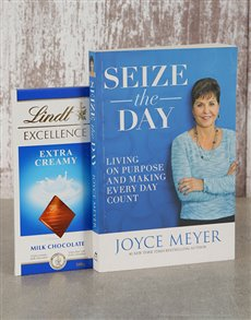 gifts: Seize The Day Book and Lindt Slab!