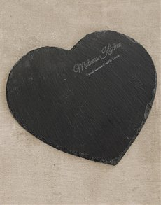 gifts: Mothers Kitchen Heart Slate Board!