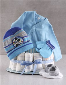 gifts: Winter With Mickey Mouse Nappy Cake!