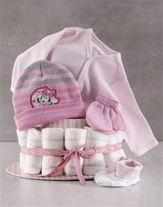 gifts: Winter With Minnie Mouse Nappy Cake!