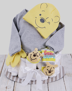 gifts: Winter With Winnie The Pooh Nappy Cake!