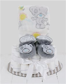 gifts: Cuddled Up With Tatty Teddy Nappy Cake!