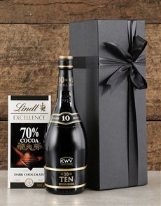 gifts: Black Box of KWV Brandy!