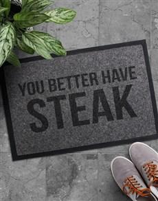 gifts: Better Have Steak Doormat!