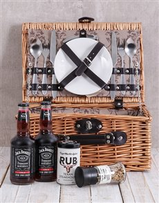gifts: Spice and Jack Daniels Cola Picnic Basket!