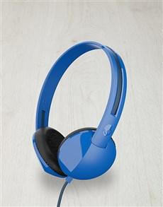 gifts: Blue Skullcandy Anti Headphones!