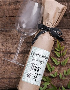 gifts: This Is It Wine in Craft Paper!