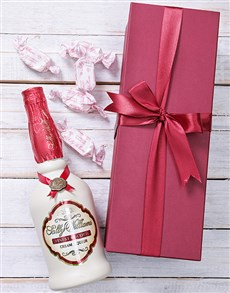 gifts: Red Box of Sally Willliams Liqueur and Nougat!