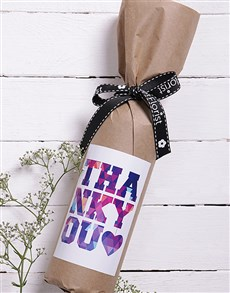 gifts: Thank You Wine in Craft Paper!