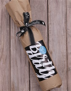 gifts: Happy Happy Wine in Craft Paper!