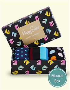gifts: Happy Birthday Singing Happy Socks Giftbox!