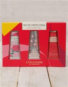 gifts: LOccitane Floral Hand Cream Trio!