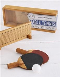 gifts: Wooden Desktop Tennis Kit!