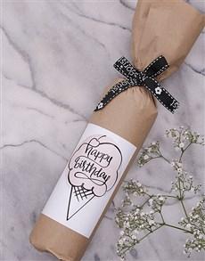gifts: Birthday Ice Cream Wine in Craft Paper!