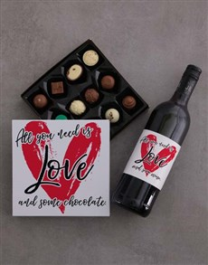gifts: All You Need is Love Choc Tray!