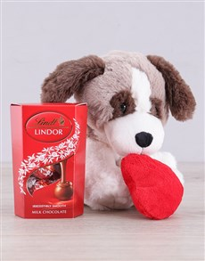 gifts: Puppy and Lindt Gift!