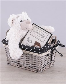 gifts: Teddy and Choc Nougat Basket!