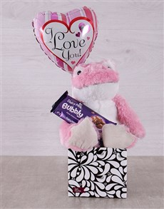gifts: Pink Love Frog and Bubbly Box!