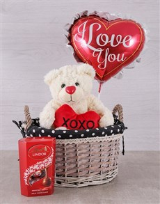 gifts: Teddy Love and Lindor Basket!